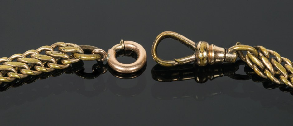 Gold Watch Fob, and Necklace