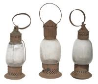 Three 19th C. Lanterns