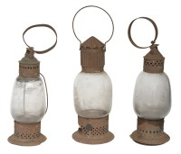 Three 19th C. Lanterns