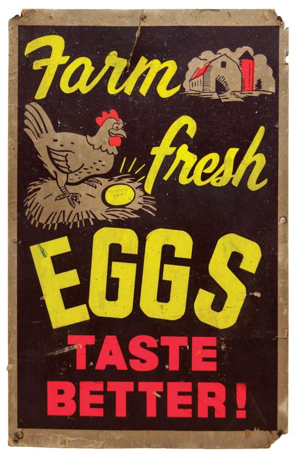"""Poster """"Farm Fresh Eggs Taste Better!"""""""