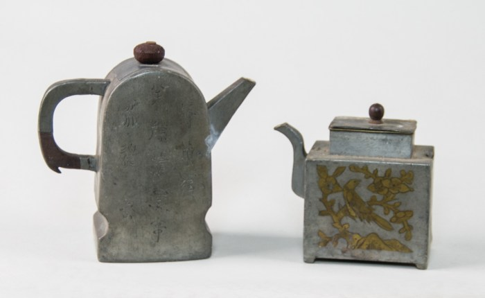 Chinese Pewter Teapots