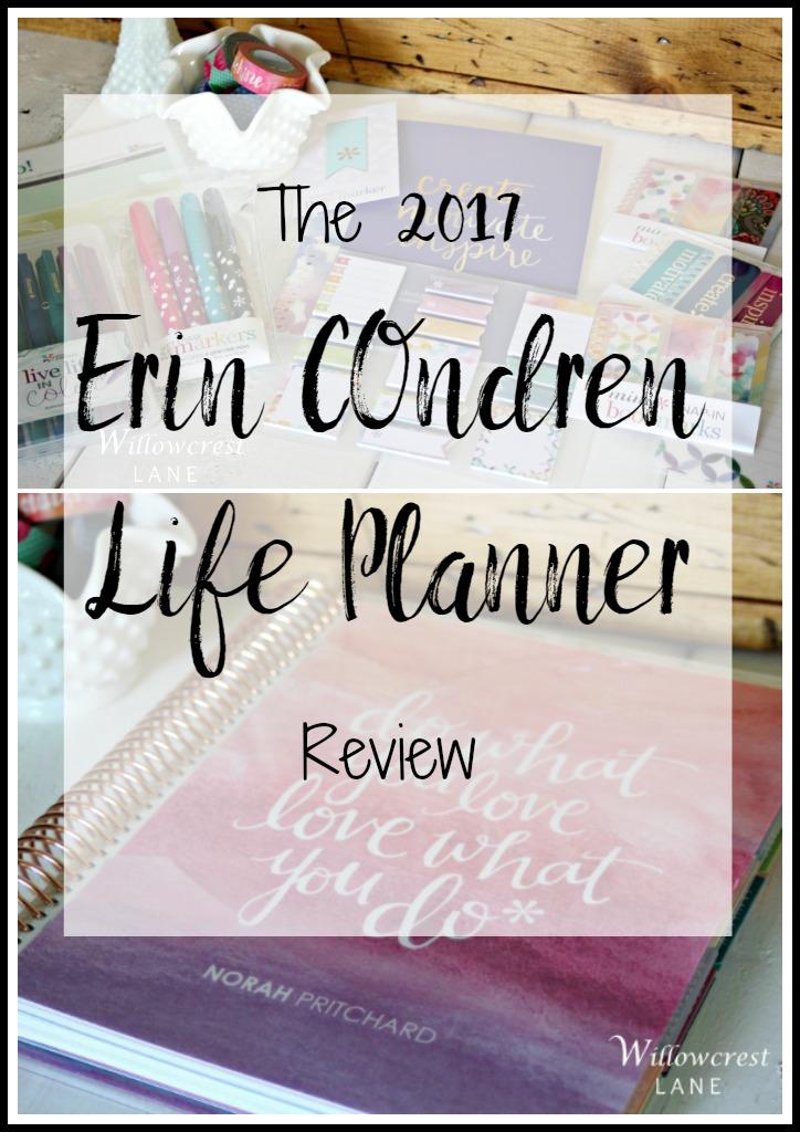 Willowcrest Lane 2017 Erin Condren Life Planner Review