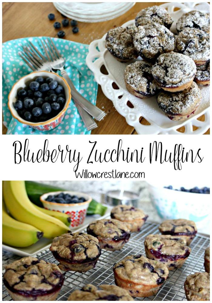 willowcrest lane blueberry zucchini muffins