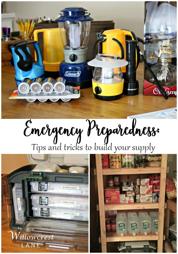 Build your family's emergency supplies and rest easy knowing your are prepared.