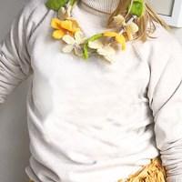 Easiest Felt Flower Necklace! (#2)