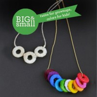 Big + Small: Wrapped Washer Necklaces for Design Mom