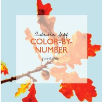Autumn Leaf Color-by-Number Printable