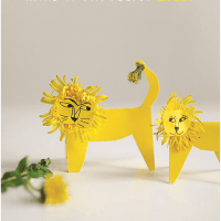 Dandelion Lions with printable template