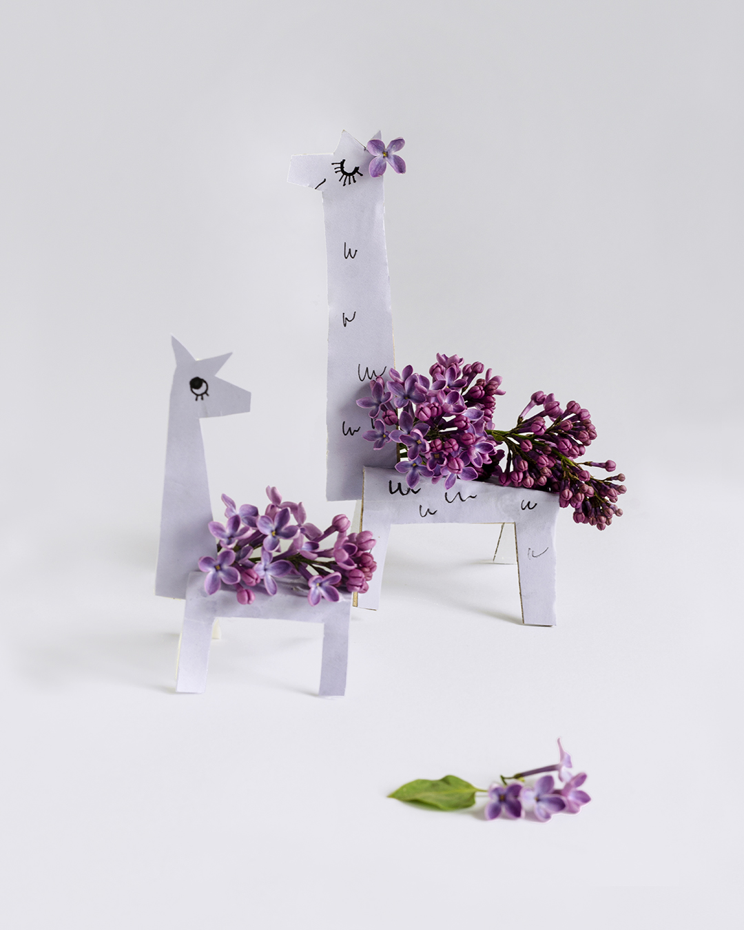 lilac llamas with template willowday