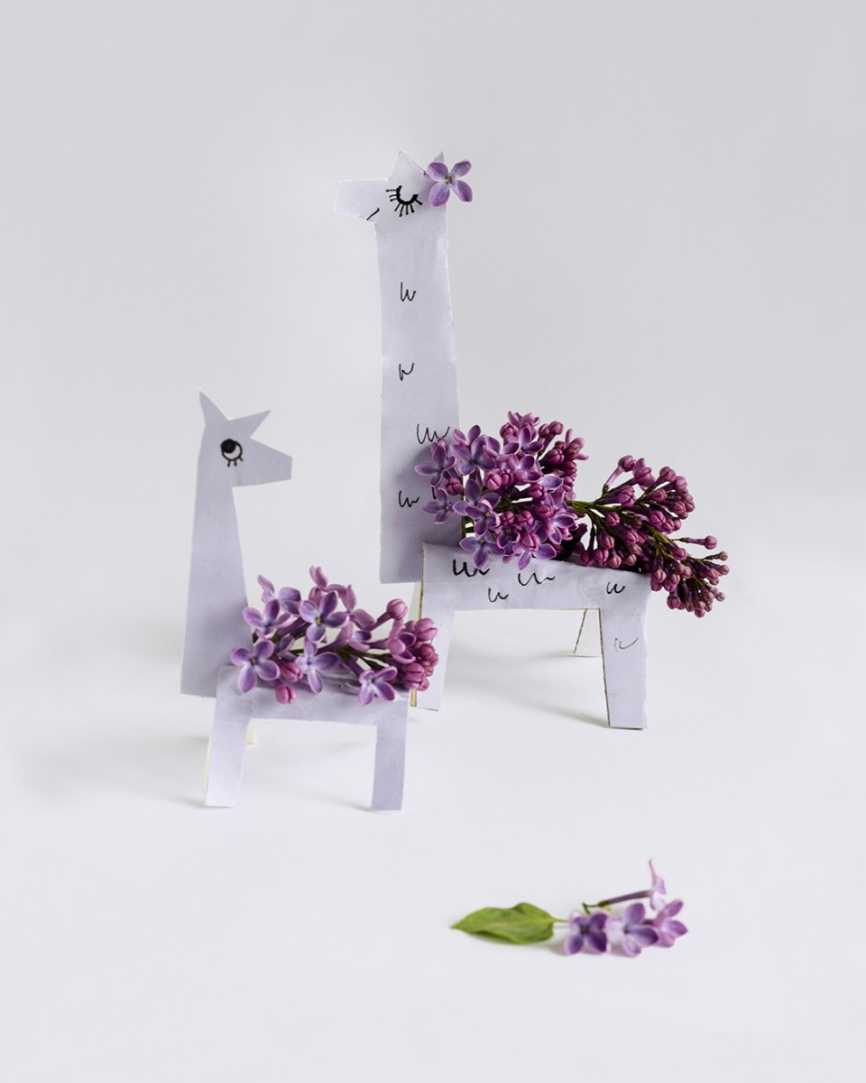 Lilac Llamas with template