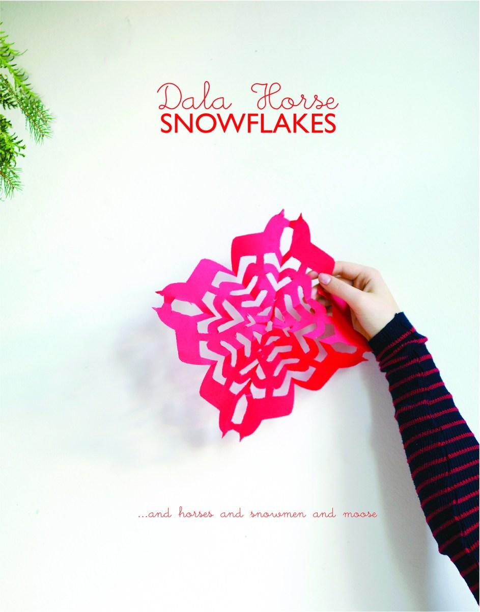 Dala Horse Snowflakes | Moose Snowflakes | Snowman Snowflakes