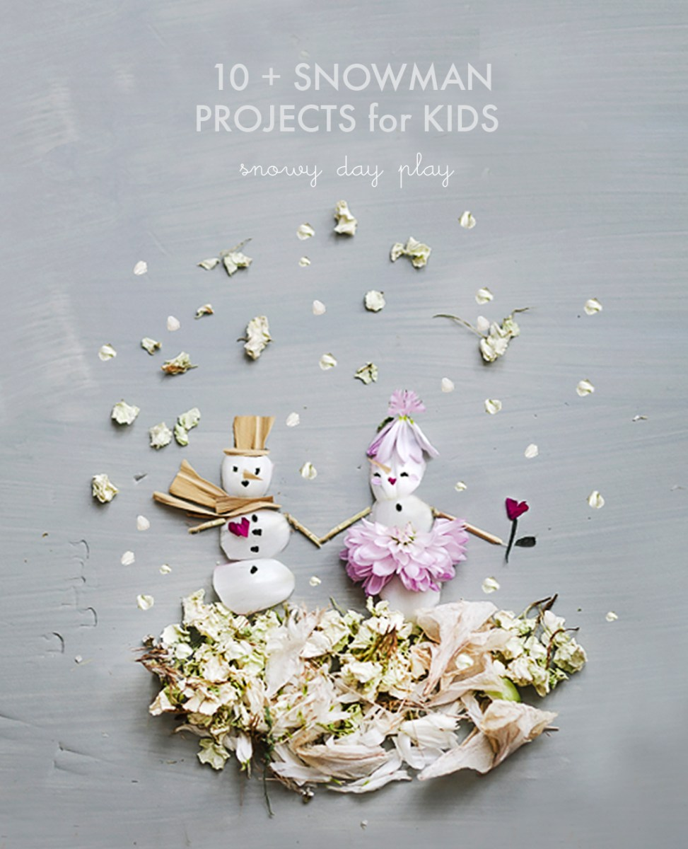 10 Snowman Projects to make with kids