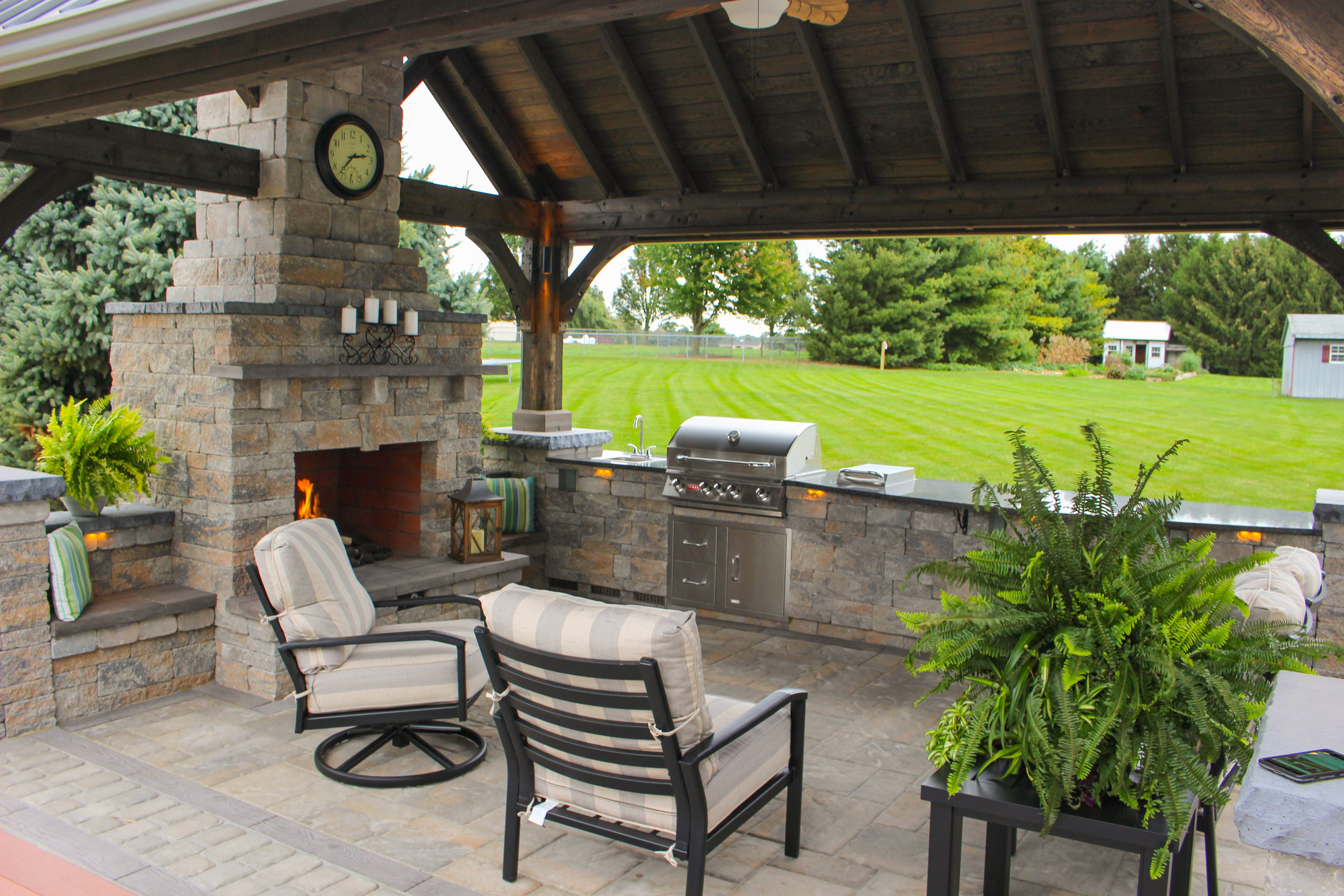 Outdoor Patio with Pavilion | See the Photos and Get a ... on Outdoor Deck Patio Ideas id=35723