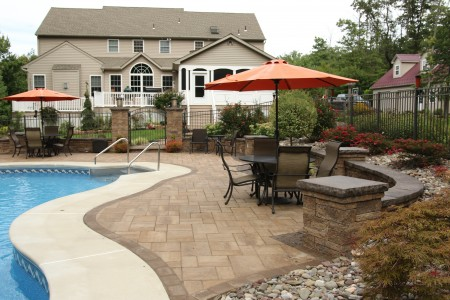 Hardscape Patio Ideas Gallery   Outstanding Designs on Pool Patio Design id=69888