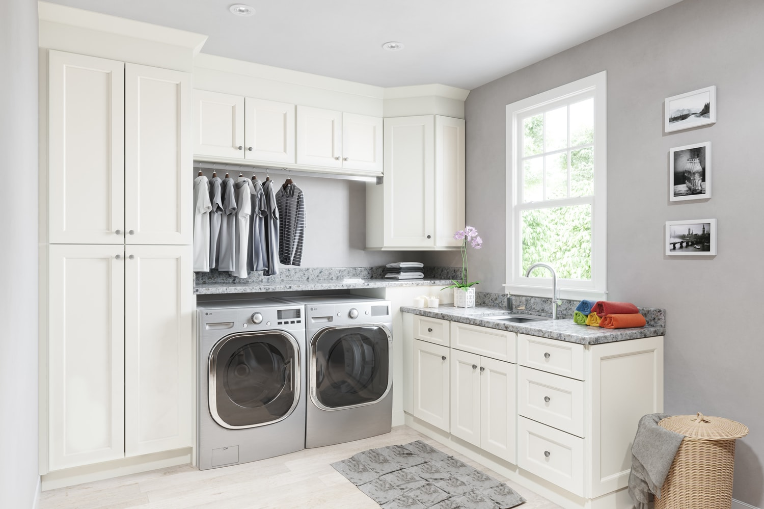 Union White on Laundry Cabinets  id=70088