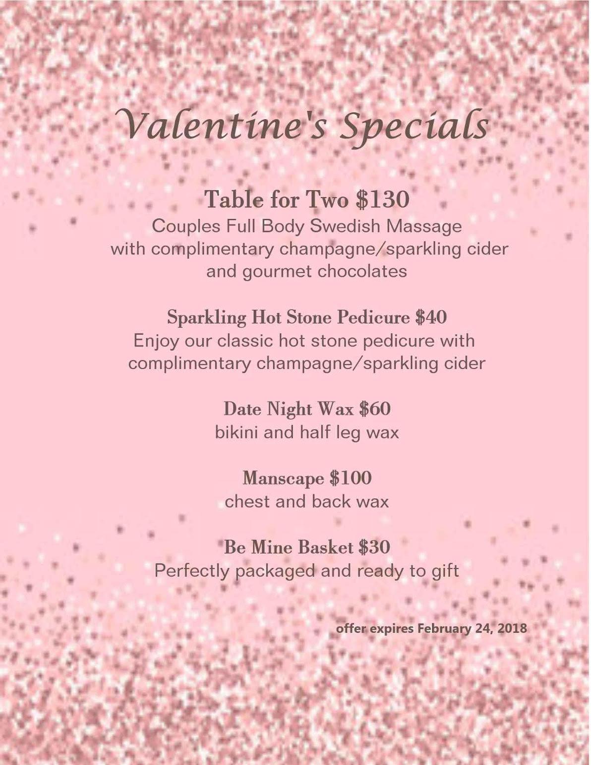 Willows Valentine's Day Specials