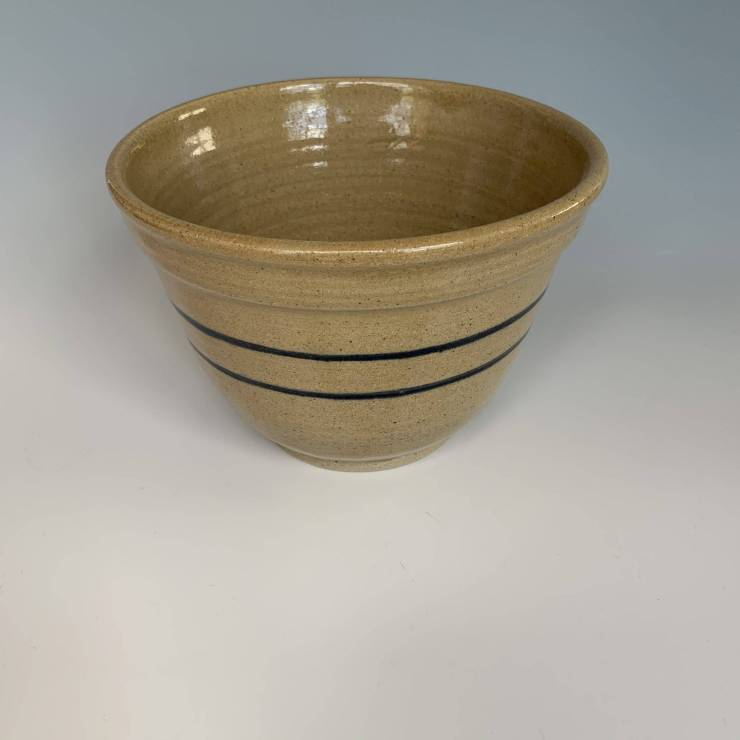 Bowl, blue stripes