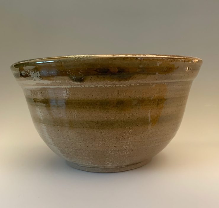 Bowl green striped