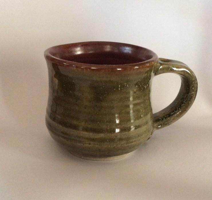 Mug, glossy green
