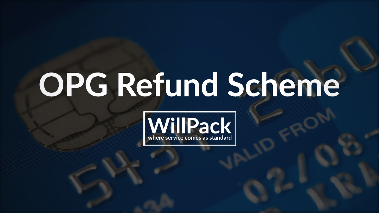 OPG, refund, scheme, card, money, payment, debit, credit, logo, white, text, logo, willpack