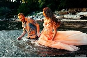 trash wedding dress ocean