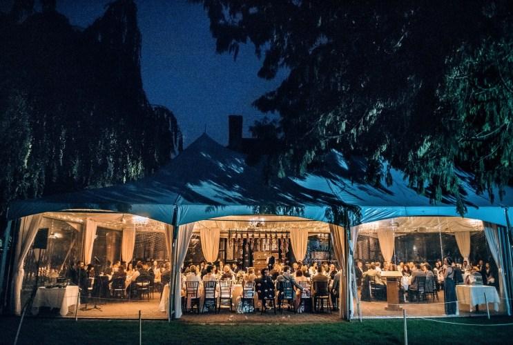 brock house outdoor tent reception