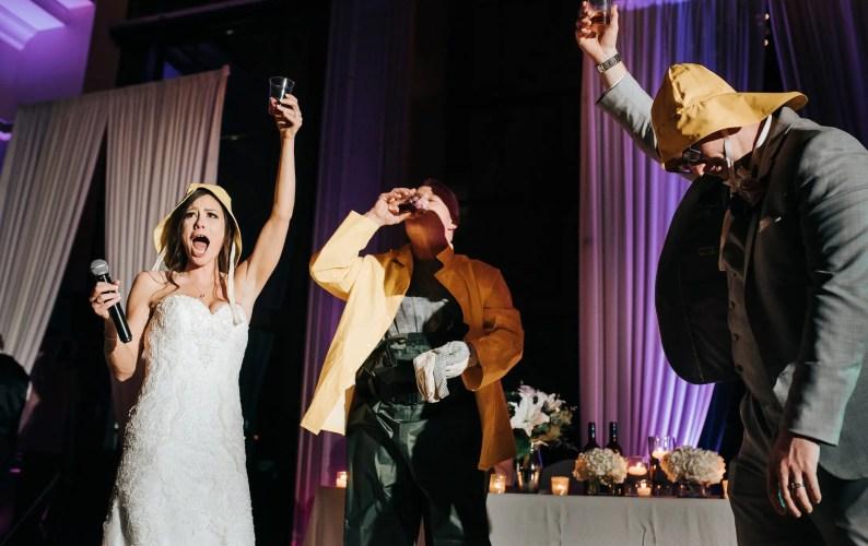 Newfoundland Screech wedding