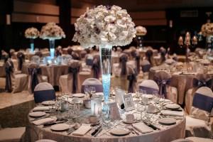 uplight in wedding centerpieces