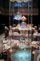 wedding centerpieces uplight crystals