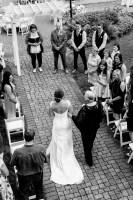 005 - outdoor wedding ceremony rowena's inn