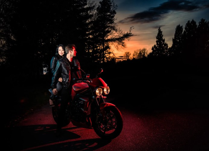 028 - motorcycle engagement session