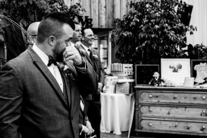 015 - black and white groom crying
