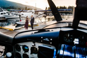 027 - float plane wedding photos