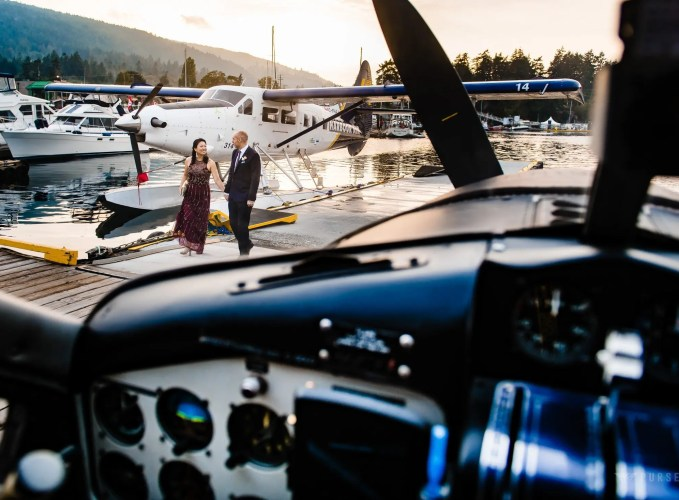 027 - float plane wedding photos