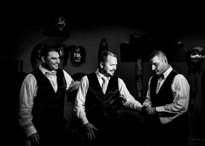 009 - black and white photo groom