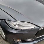 Tesla Front End Curb Damage