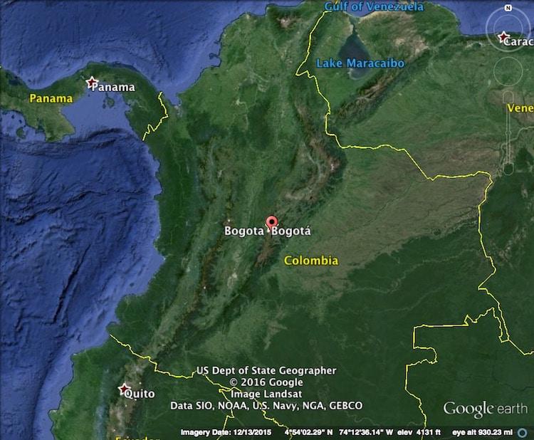 Map of Bogota