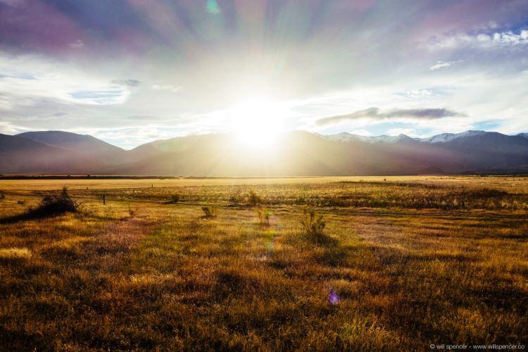 The Pelennor Fields, New Zealand. Sunset.