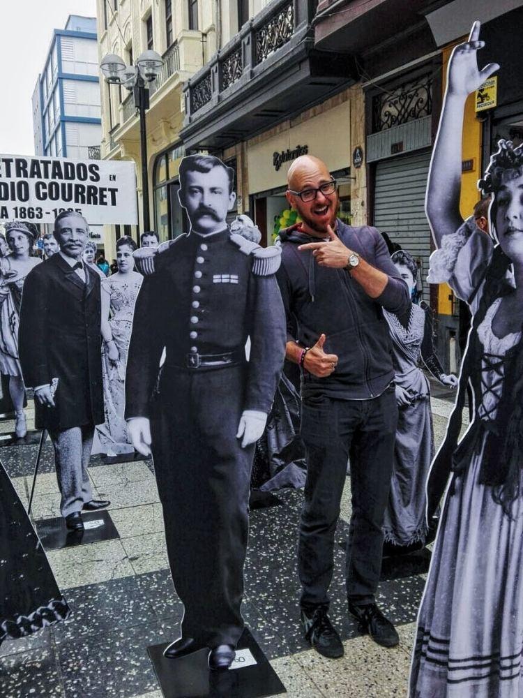 Street exhibit in Lima, Peru.