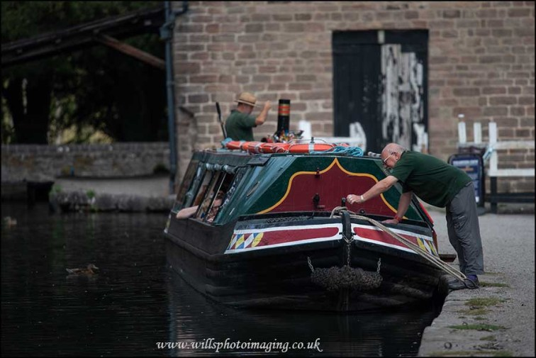 Narrow boat at Cromford Wharf