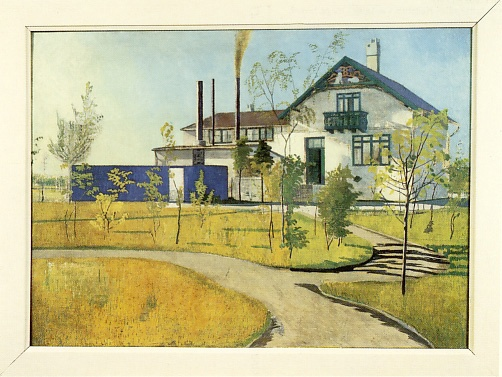 Postkort med motiv af Villa i Hellerup