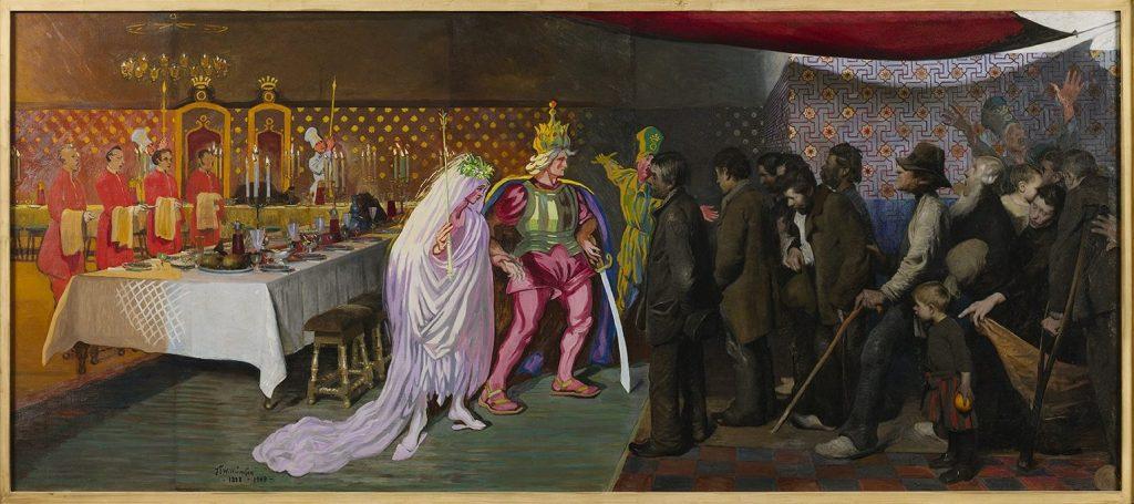 """Gengivelse af J.F. Willumsens """"En kongesøns bryllup"""""""