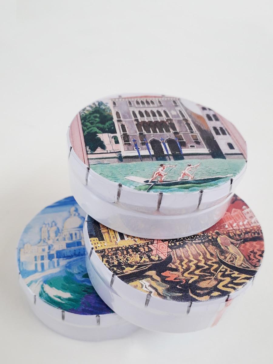 Oversigt Venedigbilleder Willumsens Museum Æsle med pastiller
