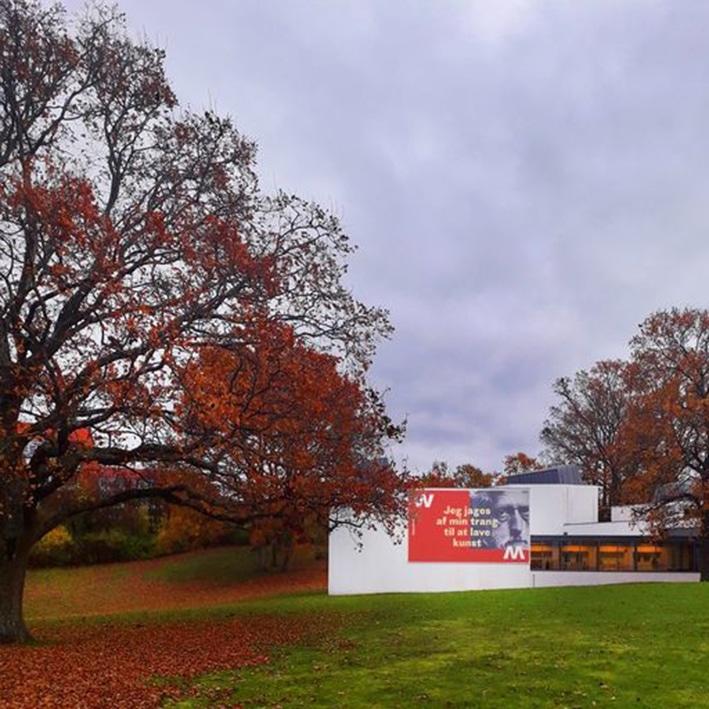 Efterårs farver i haven på Willumsens Museum