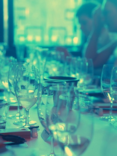 It takes a lot of glassware for a wine dinner. Photo: Willunga Wino