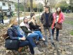 team in park