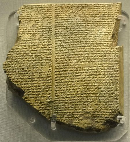 Gilgamesh: Fæ, Library of Ashurbanipal: The Flood Tablet, https://en.wikipedia.org/wiki/File:Library_of_Ashurbanipal_The_Flood_Tablet.jpg CC BY-SA 3.0
