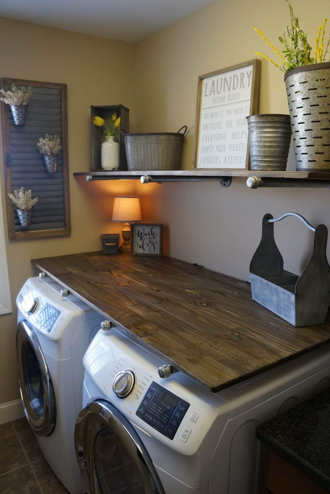 DIY Laundry Room Solutions for the Rustic Home - Pickled ... on Laundry Decoration  id=19449