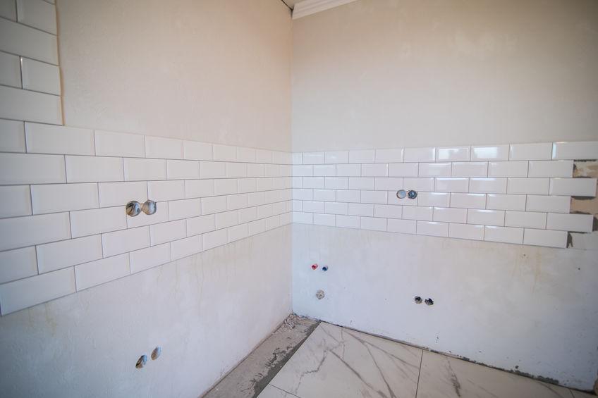 commercial bathroom tile installation