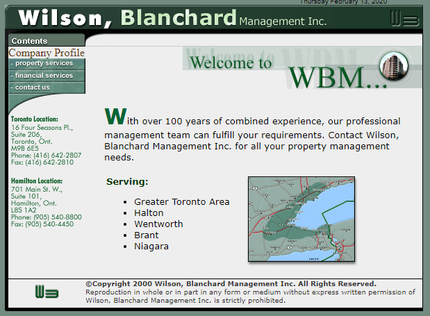 2001 02 24 WB Original Website - Our 25th Year in Business...Highlight #14 of 25